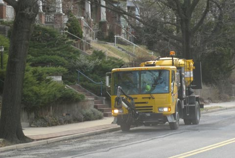 PennDOT truck sits idle, operator no where to be found