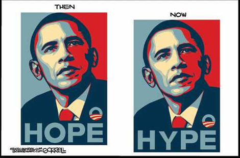 Obama Hope-Hype Posters
