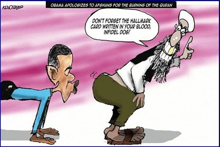 A foreign policy of appeasement: President Obama apologizes for burning the Quran